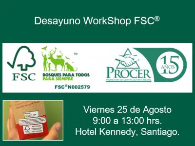 PROCER le invita a participar en WorkShop FSC patrocinado por CENEM